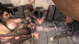 Конь насилует связанную девушку. Зоо порно мультфильм онлайн